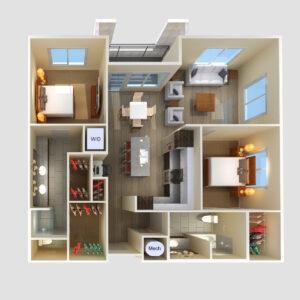 InterUrban Home - 2BR Floorplan